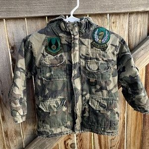 Faded Glory camouflage coat bomber puffy small 4/5